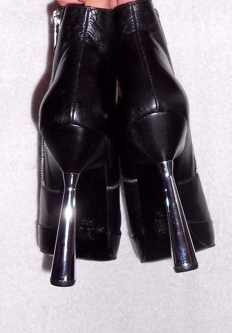 KARL LAGERFELD bottines zippées cuir cuir cuir (chevreau) noir P 39 (8 B) TBE 0ca081