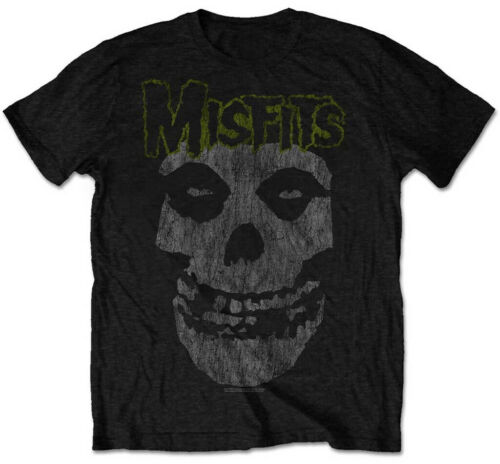 Misfits /'Vintage Skull/' T-Shirt Noir NOUVEAU ET OFFICIEL!