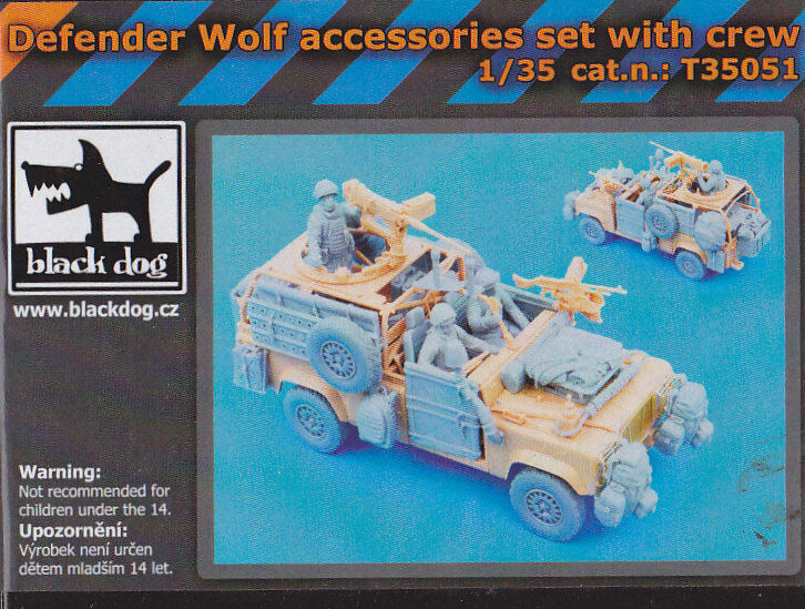 negro DOG T35051 - DEFENDER WOLF ACCESSORY SET WITH CREW RESIN KIT 1 35 - NUOVO