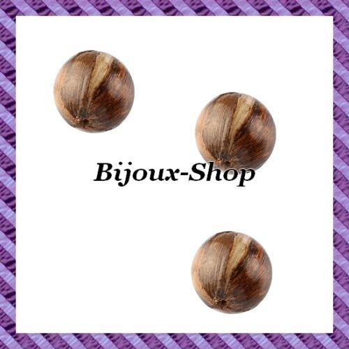 2 Perles boule bois /'/'BANANIER/'/' 20mm