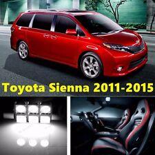 21pcs LED Xenon White Light Interior Package Kit for Toyota Sienna 2011-2015