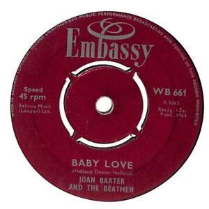 Joan-Baxter-amp-The-Beatmen-Baby-Love-7-034-Record-Single