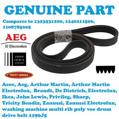 1196J5 for Aeg Washing Machine Equivalent to 1323531200 Drive Belt