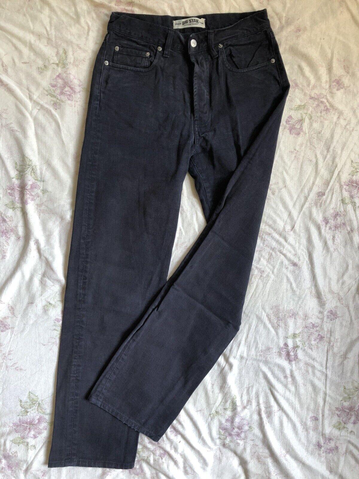 BIG STAR Classic bluee Jeans W33 L34 high waist regular fit straight leg