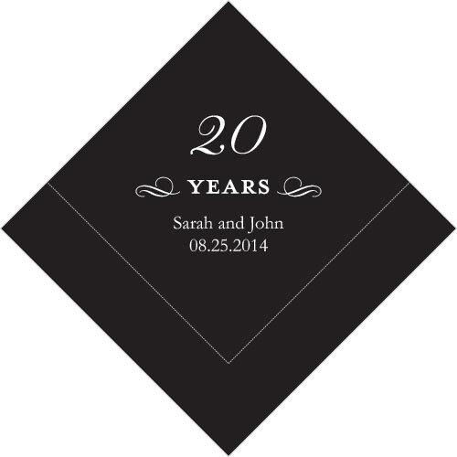 300 Printed 20th Anniversary Birthday Luncheon Napkins