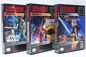 Super-Star-Wars-Empire-Strikes-Back-Return-Jedi-SNES-Custom-Cases-NO-GAMES