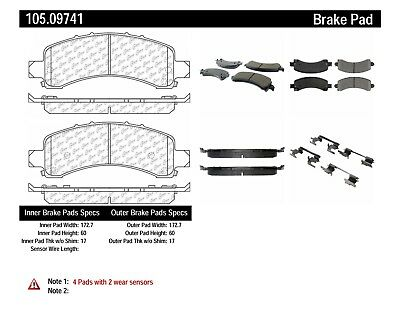 Rr Super Premium Ceramic Brake Pads  Centric Parts  105.18720
