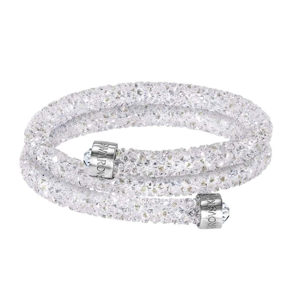 9e88b9aab4801d Bracciale Swarovski Crystaldust Bianco Donna bracelet 5237754 5237754  5237754 DOPPIO GIRO nuovo b6ab6e