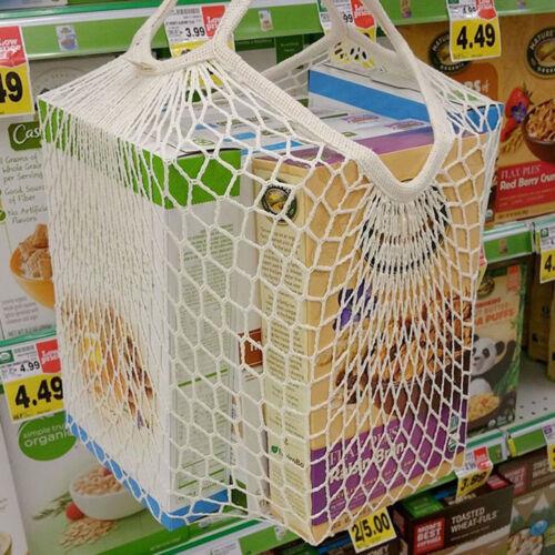 String Shopping Einkaufstüte Cotton Tote Mesh Netzgewebe Mesh Bag Shopper