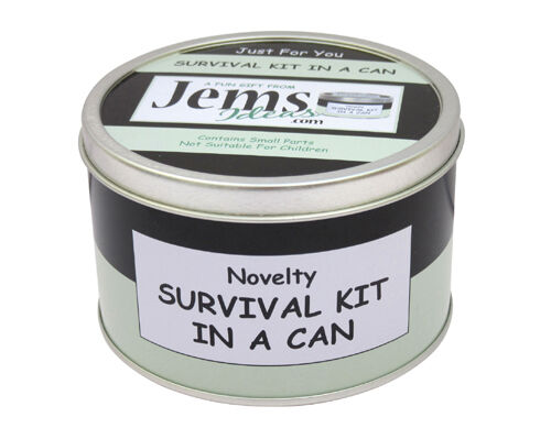 16TH BIRTHDAY Survival Kit In A Can Fun Novelty Teenage//Teenager Gift /& Card