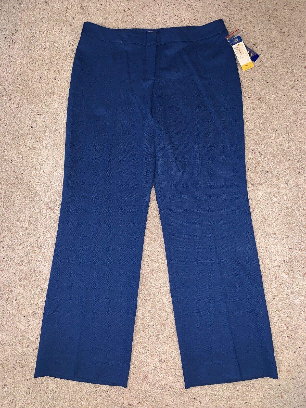 NWT New Women's Pendleton bluee Petite Virgin Wool Dress Pants Size 14P