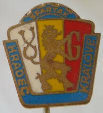 SPARTAK / FC HRADEC KRALOVE Vintage 1960s Club crest badge Stick pin 14mm x 16mm