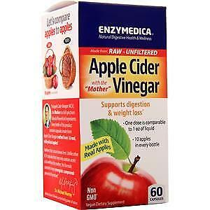 Enzymedica Apple Cider Vinegar with the Mother (355mg) 60
