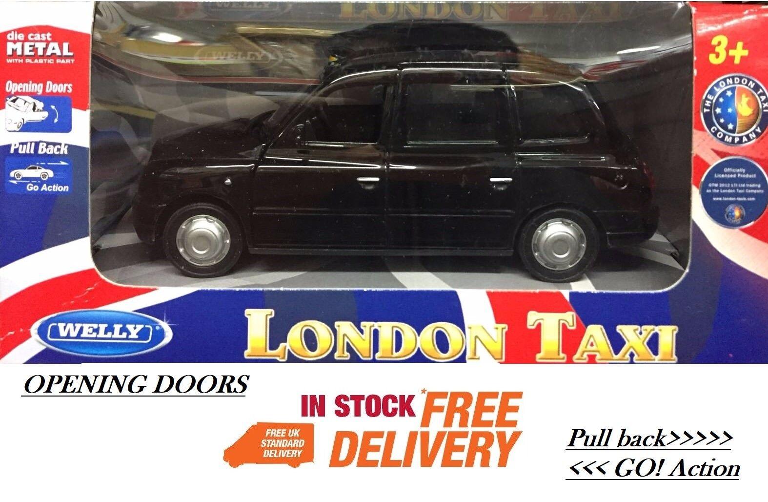 Dra tillbaka London Taxi London svart Cabe Cabe Caby modell Taxi Figur gåva Ny
