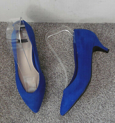Evans Royal Blue FRAN Kitten Heel Court