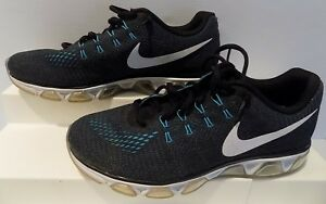 new concept f23be d8dd4 Details about Nike Mens Air Max Tailwind 8 Running Shoes Black/Ocean  Fog/Gamma Blue/White 10.5
