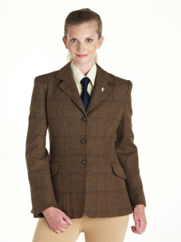 """Caldene Horse Riding Show Competition Jacket Southwold Tweed 24/""""-34/"""" Chest LADIE"""