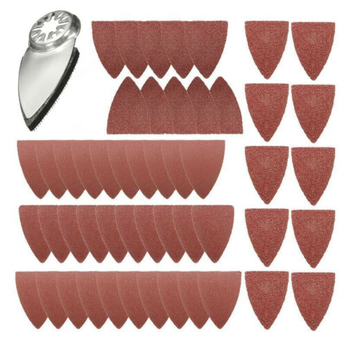 51x Finger Sanding Sheets Pads Paper Set For Fein Bosch Oscillating Multitool