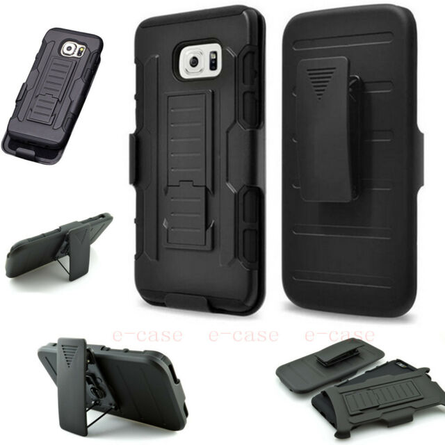 Luxury Shockproof Heavy Duty Hanging waist Armor Stand Case Cover For Cell Phone