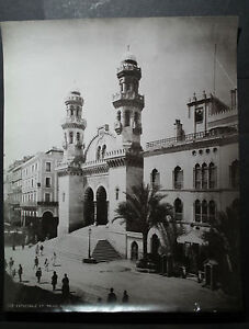 Rare Antique Old Photo Leroux Ketchaoua Mosque Cathedral Africa