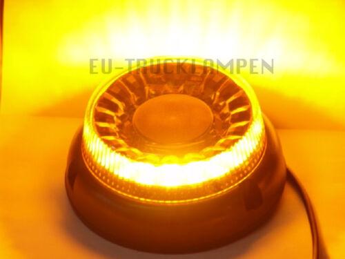 165mm RUND E-ZULASSUNG LED RUNDUMLEUCHTE WARNLEUCHTE-UNI FÜR 12-55 VOLT