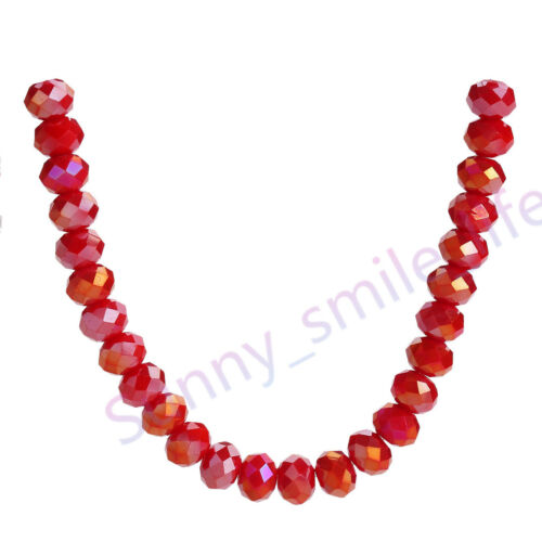 Charms 5040# Rondelle Faceted Crystal Loose Glass Jewelry Beads 2x3mm  53Colors