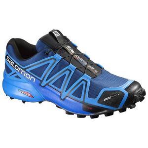 Details zu Trail Running Schuhe Salomon Speedcross 4 Cs Blue Tiefe Bright Blue Schwarz
