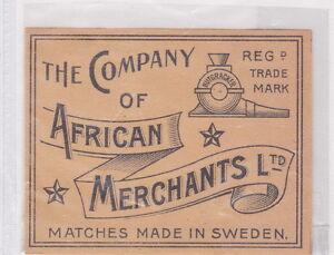 Ancienne étiquette de paquet Allumettes Suède BN22787 The Company African qHhYQFUF-09154538-735578507