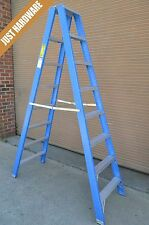 double side sided fibreglass step ladder 3m 10 foot ft 150 kg red
