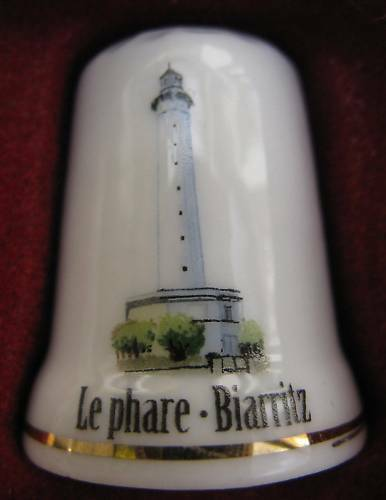 Dé à coudre Le Phare de Biarritz Thimble Fingerhut #37