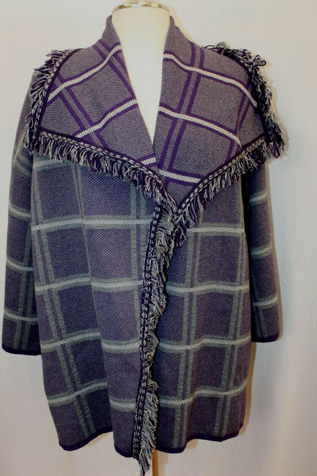 Nuevo St. John Royal Amatista  Suéter Chaqueta De Punto Chaqueta Sweater L Grande  895  Esperando por ti