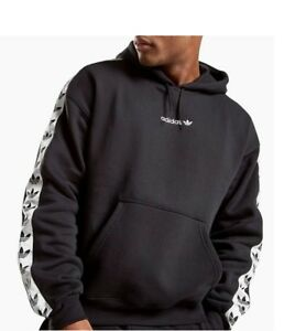 Details about Adidas Black Originals Adicolor TNT Tape Trefoil Hoodie Hoody Jacket