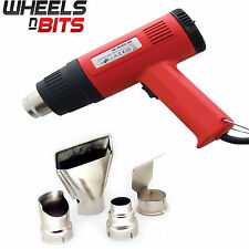 2000W Hot Air Heat Gun Dual Temperature Paint Stripper DIY Tool & 4 Nozzle 230v