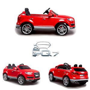 Petite voiture électrique enfant bébé Q7 Audi luxe roue EVA 12V à ... a5d504489960