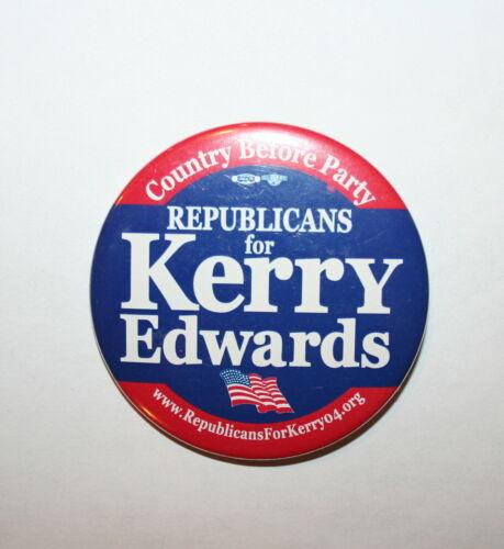 2004 Kerry vs Bush President Campaign Button Political Pinback Pin Republicans