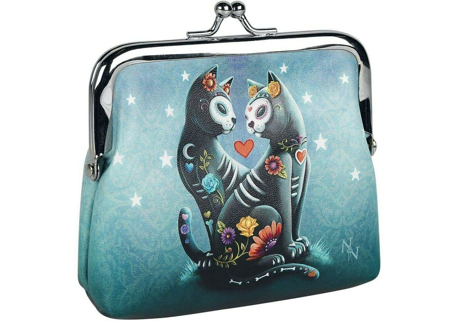 NEMESIS NOW A Starry Night Black Cats Lovers Coin Purse Wallet Loose Change