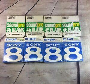 Sony-Soundpro-8-Track-Blank-Recording-Cartridges-45-46-min-Sealed-Lot-Of-8
