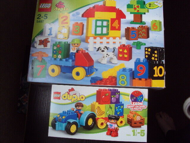 TWO LEGO DUPLO SETS TRACTOR & NUMBER NUMBER NUMBER COLOURS HOUSE 5497 & 10615 VGC FREE UK POST 3e6b26
