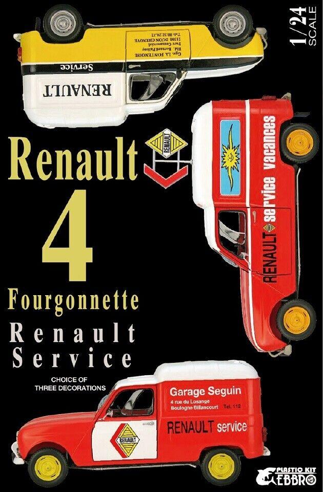 gran venta EBBRO MODELS RENAULT RENAULT RENAULT 4 FOURGONETTE SERVICE Coche 1 24 25012  tienda de ventas outlet