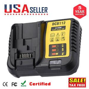DCB112-12-20V-Max-Li-Ion-Battery-Charger-New-for-Dewalt-DCB115-DCB204-DCB205