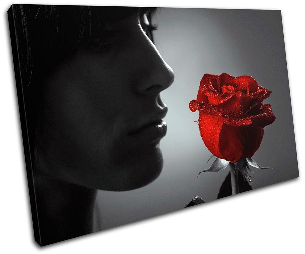 rosso rosa Portrait Portrait Portrait flower Floral SINGLE TELA parete arte foto stampa 529761