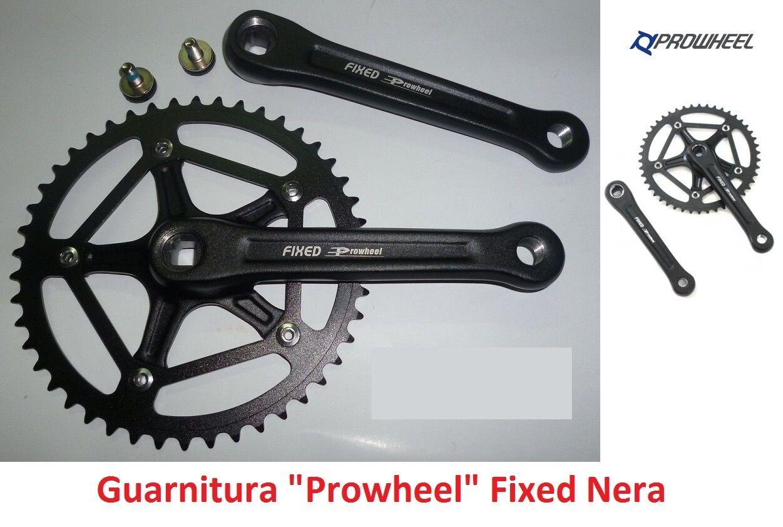 70NK Guarnitura singola Prowheel Fixed Nera 46T 46T 46T per bici 20-24-26 BMX Freestyle   Nuovo Prodotto    Conosciuto per la sua buona qualità  7e3191