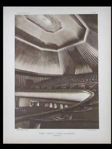 Adaptable L'architecte 1927 Cinema Capitol Berlin, Poelzig, Montanhof Hambourg, Grubitz Vous Garder En Forme Tout Le Temps
