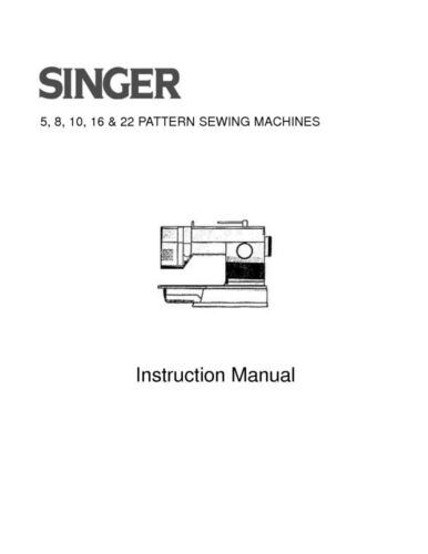 Singer 4552462259327028 Sewing MachineEmbroiderySerger Owners Manual