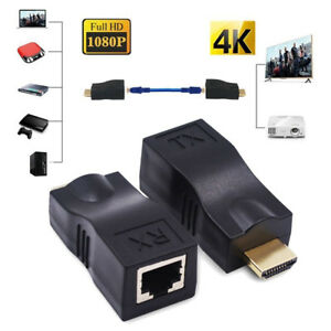 4K-1080P-3D-HDMI-Extender-Over-Single-RJ45-Cat-5e-6-Network-Ethernet-Adapter-K