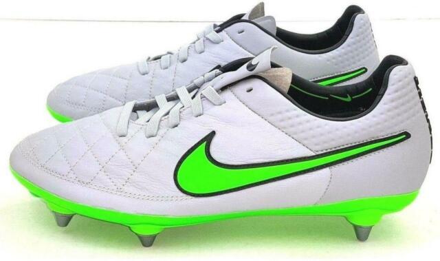 Series de tiempo acceso Embajador  Nike Tiempo Legend V 5 SG ACC Soccer Cleats Wolf Grey Green Sz 8.5  (636044-031) for sale online   eBay