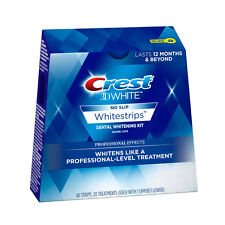CREST 3D WHITESTRIPS PROFESSIONAL EFFECTS~10 STRIPS=5 TREATMENTS~FREEPOST TO UK!