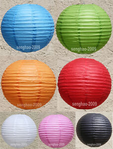 BULK-12x-18-034-46cm-Colourful-Paper-Lanterns-Home-Party-Chinese-Wedding-Decoration