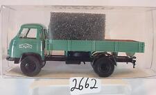 Brekina 1/87 43217 Borgward B 655 LKW Pritsche Schwarz Bau OVP #2662