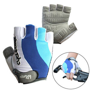 Cycling-Bicycle-Bike-Motorcycle-Gel-Silicone-Half-Finger-Fingerless-Gloves-M-2XL